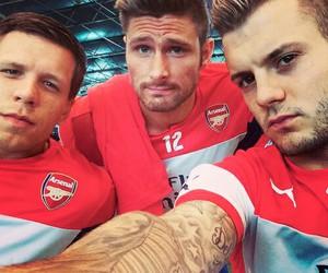 Arsenal, olivier giroud, and jack wilshere image