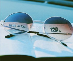 blue jeans, sunglasses, and lana del rey image