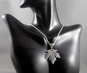 maple leaf, necklace, and green tourmaline image