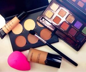 brush, lipgloss, and make up image