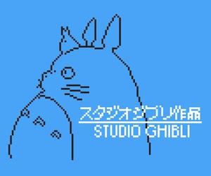 8 bit, anime, and Hayao Miyazaki image