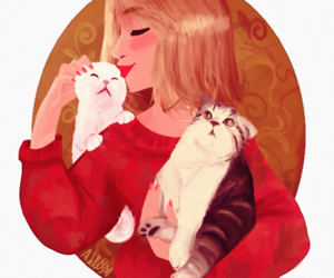 cats, Taylor Swift, and art image