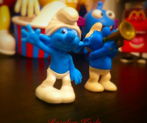 fun, happy, and smurfs image