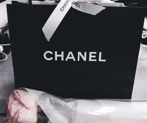 chanel, black, and rose image
