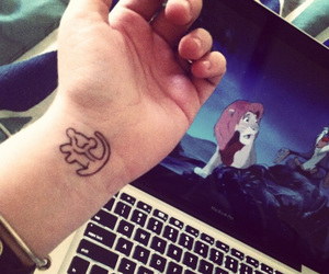 black, tattoo, and the lion king image