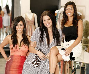 khloe kardashian, kourtney kardashian, and kim kardashian image