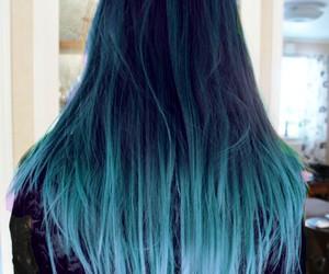 blue hair, hair, and girl image