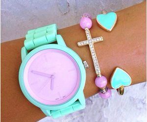 neon, watch, and cross image