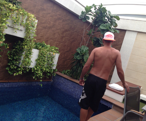 hotel, swimming pool, and summer image