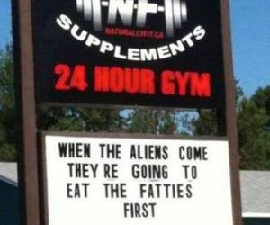 aliens, gym, and running image