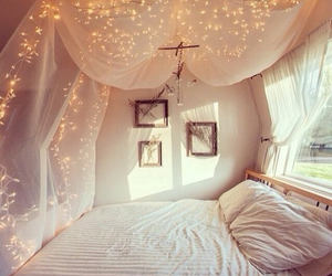 beautiful, bed, and window image