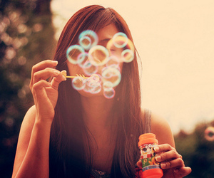 bubbles, disney, and girl image