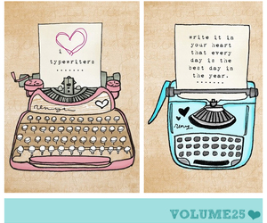 vintage, cute, and writers image