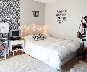 bed, decore, and room image