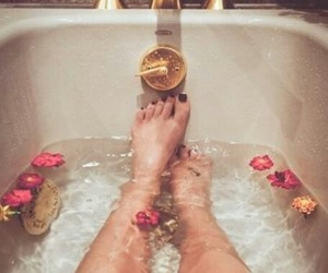bath, candles, and decorating image