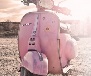 pink, vintage, and Vespa image