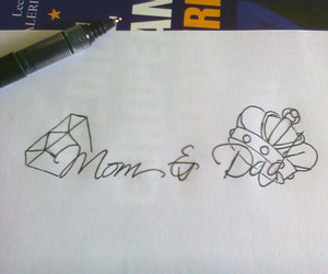 tattoo, dad, and mom image