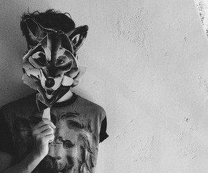 black and white, troye sivan, and wolf image