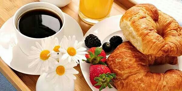 breakfast, caffe, and brioches image