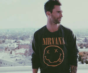 nirvana, adam levine, and maroon 5 image