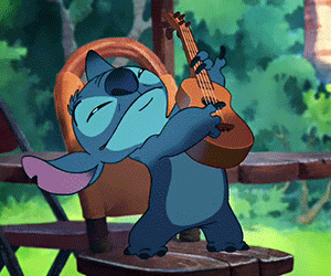 stitch, disney, and guitar image