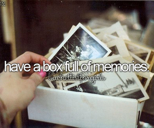 memories, box, and bucketlist image