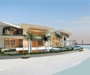 house, beach, and palms image