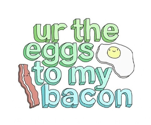 bacon, eggs, and overlay image