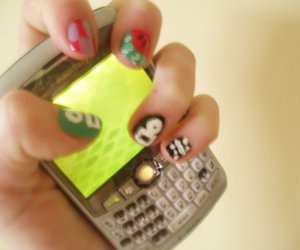blackberry, hand, and nails image