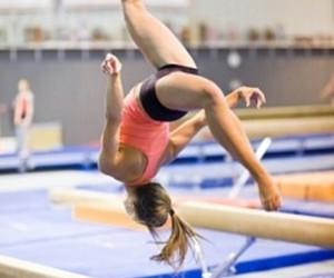 gymnastics, beam, and gymnast image