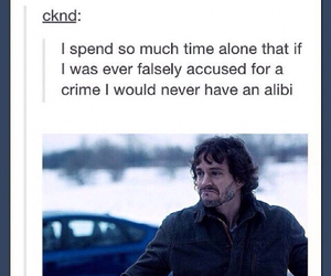 alone, crime, and hannibal image