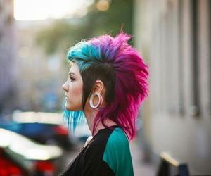 hair, pink, and punk image