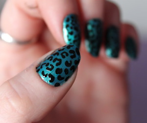 black, blue, and nail image