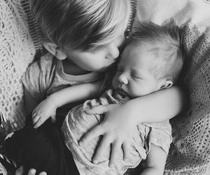 babies, black white, and children image