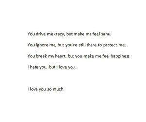 i hate you, I Love You, and break my heart image
