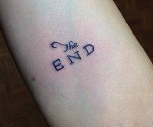 tattoo, the end, and end image