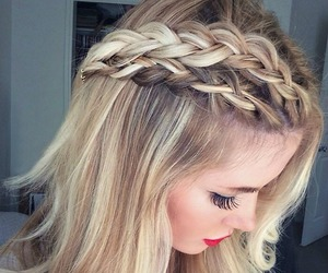 awesome, braids, and cabelo image