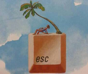 escape, esc, and summer image