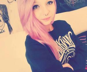 dyed hair, pink hair, and pastel hair image