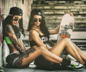 dope, girls, and hiphop image
