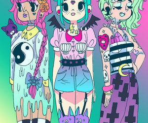 art, grunge, and kawaii image