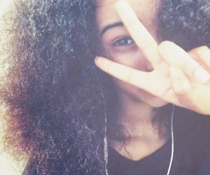 Afro, peace, and cheese image
