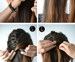 braid, hair style, and easy diy image