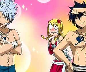 fairy tail, gray, and Lucy image