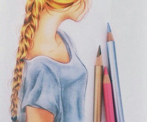 art, awesome, and pretty girl image