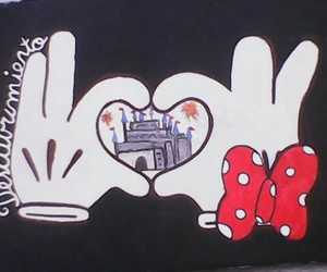 castle, heart, and mickey image