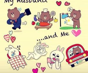 brown, love, and cony image