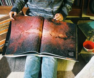 book, galaxy, and photography image