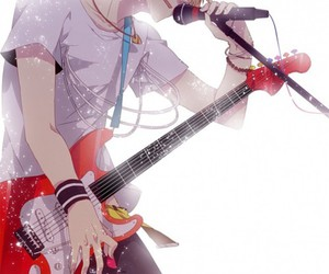 anime, boy, and guitar image