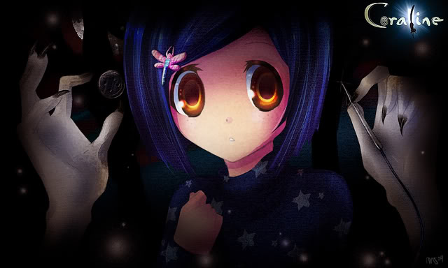 Coraline Anime Fan Art Discovered By Amaya Cline 8